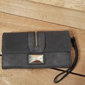 Simply Noelle  Grey Wristlet Wallet